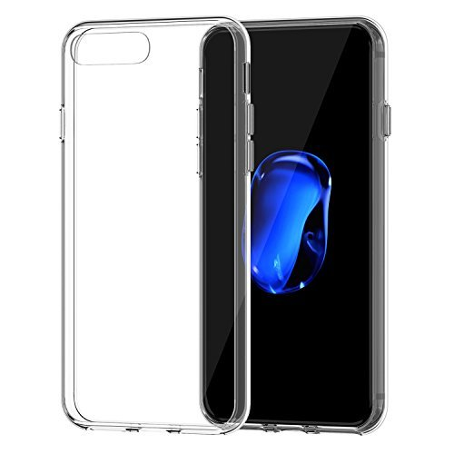 JETech Funda para iPhone 8 Plus y iPhone 7 Plus, Carcasa Bumper, Shock-Absorción, Anti-Arañazos, HD Clara