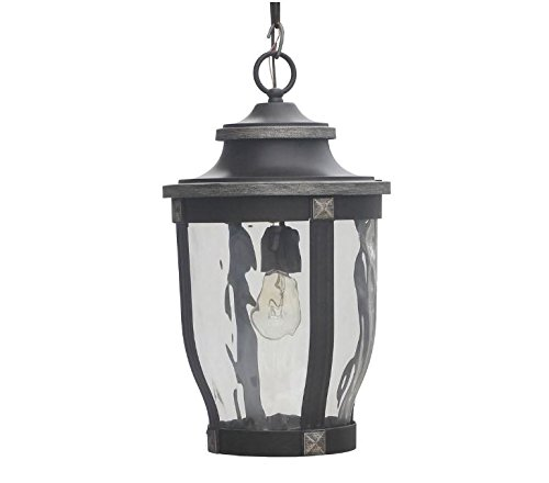 Home Decorators Collection McCarthy 1-Light Bronze Outdoor Chain Hung Lantern by Home Decorators Collection