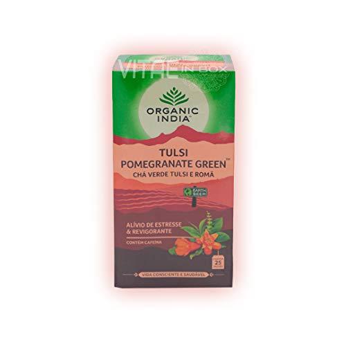 Organic India Tulsi Tea, Pomegranate Green, 25 Count