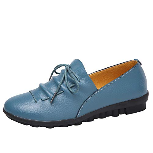 Head Casual Blue Lazy Imitation Color FALAIDUO Slip Candy Solid Shoes Non Leather Soles Shoes Shoes Women's Round Color Flat Peas pqETwHaE
