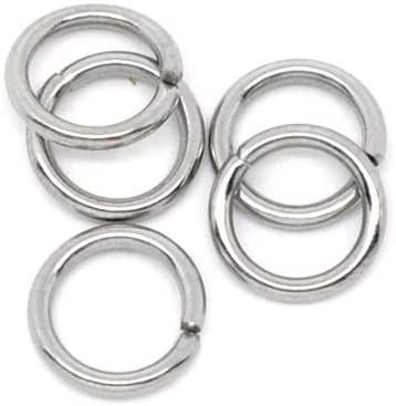 Wholesale Stainless Steel Open Jump Rings Jewelry Making Findings 4mm Dia 21 GA