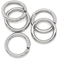 """VALYRIA 500pcs Stainless Steel Open Jump Rings Connectors Jewelry Findings 7mm(1/4"""")"""