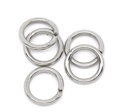 VALYRIA 500pcs Stainless Steel Open Jump Rings Connectors Jewelry Findings 7mm(1/4