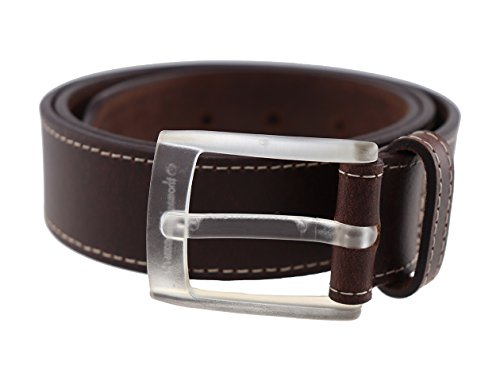 Usa Quartz Carbon (Men's Leather Belt Clear Metal Free Buckle Highliner Quartz Made in the USA by Thomas Bates (32, Brown))