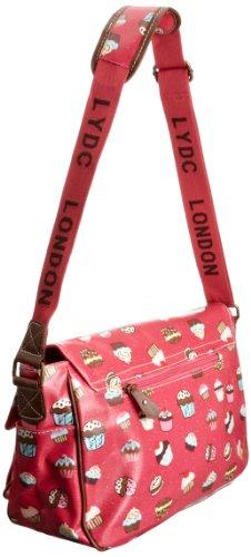 LYDC Cupcake Design Saddle - Bolso estilo cartera para mujer Pink