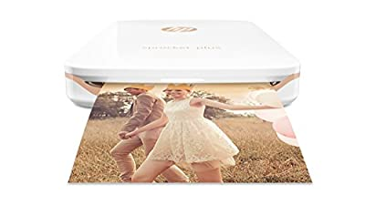 "HP Sprocket Plus Instant Photo Printer, Print 30% Larger Photos on 2.3x3.4"" Sticky-Backed Paper"