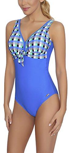 Menta Donna M293D1 Intero Costume Bagno Blu aQuarilla Scuro da FvqB86