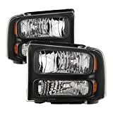 99 superduty headlights - Xtune HD-JH-FF25099-HA-BK Ford Superduty Headlight
