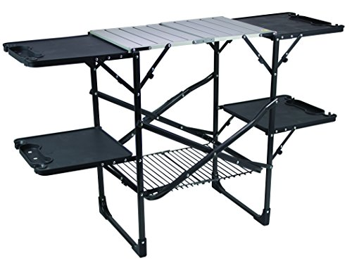 GCI Outdoor Slim-Fold Camp Kitchen Portable Folding Cook Station (Best Outdoor Kitchen Grills)