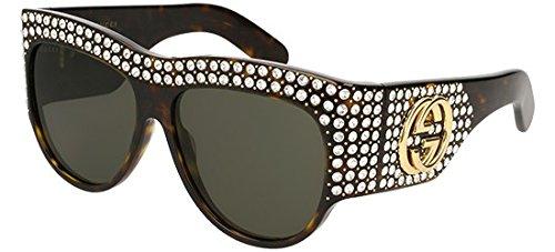 Sunglasses Gucci GG 0144 S- 002 AVANA / GREY
