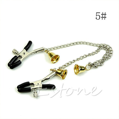 Stebcece 1Pc New 9 Style Nipple Double Clips Clamp Bust Massager Stimulate Sex Toy Orgasm