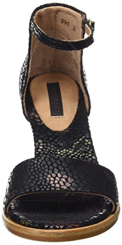 Sandalias de Neosens Tobillo Montua Black Fantasy Floral S990 para Correa Negro con Mujer Floral Black FAwqgXfx