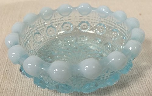 Salt Cellar - Lacey Daisy - American Made (Blue Opalescent)