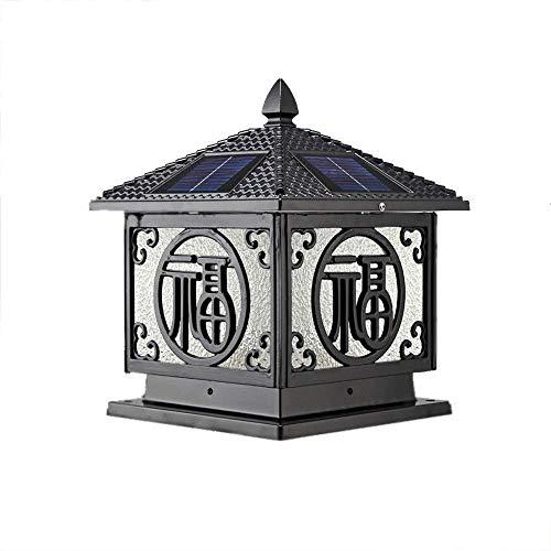 - Nkssztd Waterproof Column Headlights Outdoor Solar Light Adjustable Led Villa Door Pillar Lamp Outdoor European Retro Wall Garden Post Light
