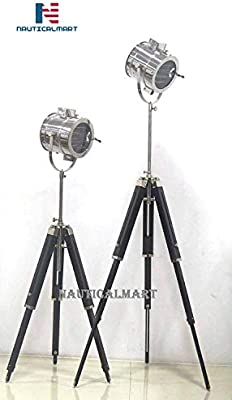 Juego de 2 lámparas de pie con trípode para proyector de teatro ...