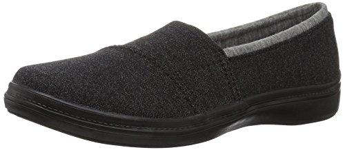 Grasshoppers Womens Siesta Slip-On Fashion Sneaker Black Denim c6yguF