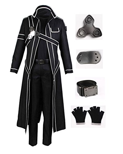 Dazcos US Size Men's Sword Art Online Kirito Cosplay Costume (Men S)