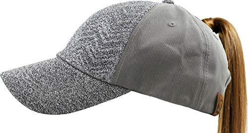 All Hat Ponytail Vintage Sports Glitter Messy High Bun Hat Ponycaps Adjustable Cotton and Mesh Trucker Baseball Cap (Adjustable, (9) Chevron Glitter Silver)
