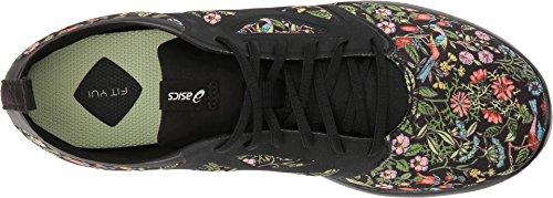 ASICS Womens Gel-Fit Yui L.E. Shoes, Size: 9.5 B(M) US, Color Black/Limelight/Silver by ASICS (Image #1)