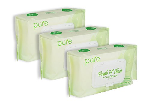 Unscented Wet Wipes Natural Wipes for Women, Men & Baby Wipes!240 Sensitive Wipes,Hypoallergenic.Natural Baby Wipes Flip Top Wipes Dispensers(3 x 80 Fresh Wipe Refill Packs)Body Wipes for All!