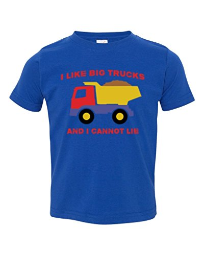 P&B I Like Big Trucks and I Cannot Lie Toddler T-shirt, 2T, (Like Truck)