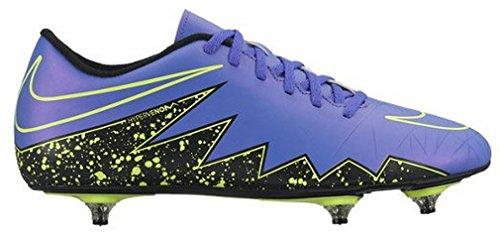Nike Hypervenom Phade II SG, Botas de Fútbol para Hombre Morado / Negro / Verde (Hyper Grape/Hypr Grape-Blk-Vlt)