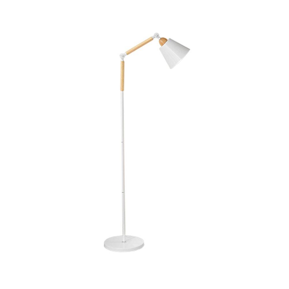 Standleuchten-Power E27 Kreative Holz Moderne LED Lampe Eisen 180 ° Rotation Lampe Kopf Einstellbare Lesen Stehlampe 160x28 cm