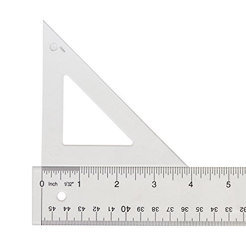 Westcott Styrene Triangle, 4'', 45/90 Degree, Transparent (S450-4) by Westcott (Image #1)