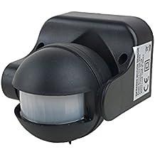 uxcell Motion Sensor Detector AC 110V-240V Outdoor Human Body Infrared Detector Security Automatic LED PIR Motion Sensor Switch Black