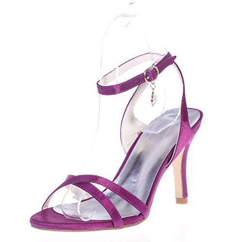 5 Elobaby Autunno Purple Plateau Donna Matrimonio 8 Tacco Estate Alto e cm Tacco Fibbia con q87CTq