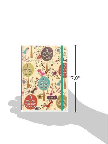 2014 Folk Art Birds 16-Month Weekly Planner (Compact Engagement Calendar, Diary)