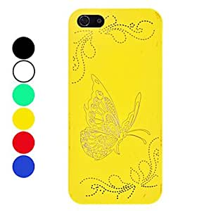 Mini - Exquisite Butterfly Pattern Relief Hard Case for iPhone 5/5S Color: Green