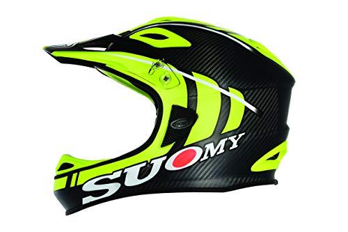 Suomy Jumper Carbon Down Hill Mountain Bike Helmet (Flo Yellow/Black, X-Large)