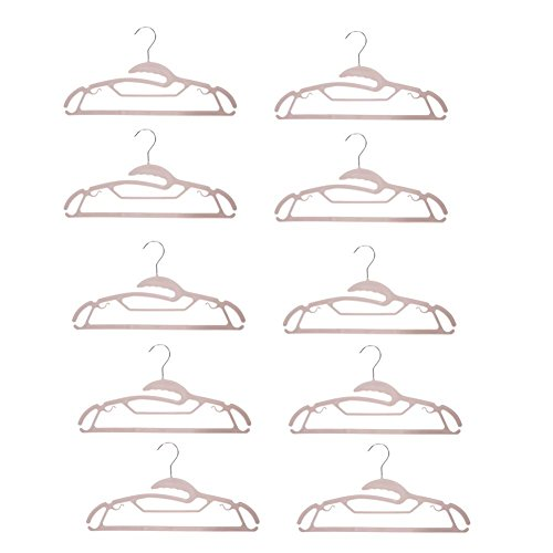 Whitelotous 10pcs Stainless Steel Plastic Standard Clothes H