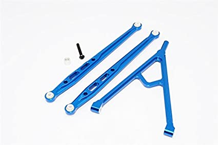 Axial SCX10 Upgrade Parts Aluminum Front Chassis Links Parts Tree - 3Pcs  Set Blue