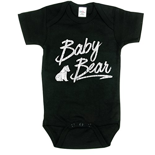 Little Brothers Baby Bear Outfit, Gift for Brother, Baby Bear Onsie, Black 0-3 -