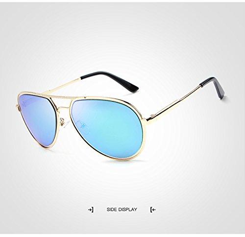 Sol diseñador Sol de polarizadas Marca Pilot Gafas Hombre de Sunglass Gafas Espejo Hombres Ruiyue para con Retro de Gafas Sol Gafas Golden de de xq7YwfXT