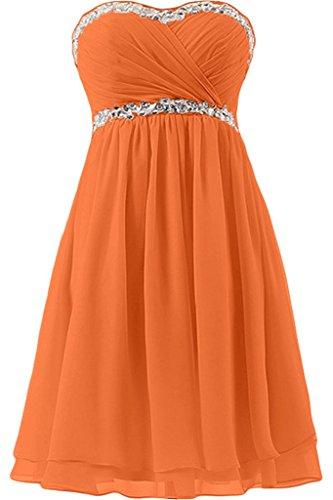 Missdressy - Vestido - plisado - para mujer naranja