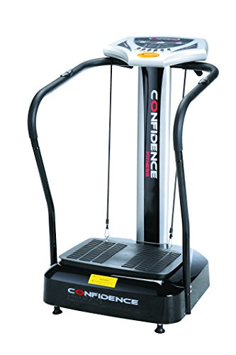 Confidence 5051401124685 Fitness Slim Full Body Vibration Platform Fitness Machine, Black