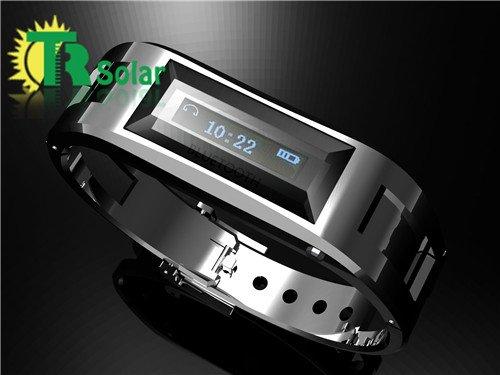 Bluetooth bracelet watch Mini Smart Caller ID Mobile Vibration-Silver