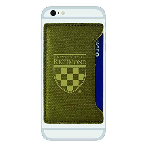 - University of Richmond -Durable Canvas Card Holder-Olive