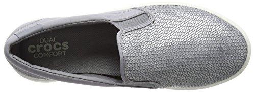 Mujer Para Argento Mocasines Citilane Sequin silver Crocs 76PZacP