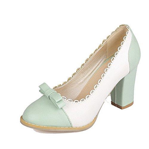 Allhqfashion Fbuidc005458 Colore Luccichio flats Verde Alto Assortito Tacco Donna Tirare Ballet rq4wxzpr