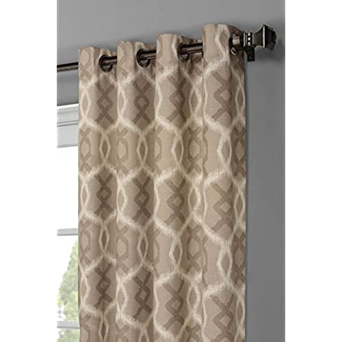neutral curtains for living room grey window elements avila printed cotton extra wide 104 96 in grommet curtain panel pair taupe neutral curtains for living room amazoncom