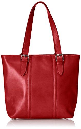 Italy In Classica Moda Vera Ctm Made Tutto 34x30x11cm Borsa Rosso 100 Pelle Elegante Donna Chicca A Mano Da 6awSZq58xq