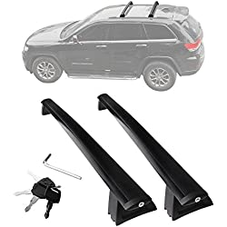 YITAMOTOR Cross Bars Roof Racks, Luggage Racks for 2011-2019 Jeep Grand Cherokee, Crossbars with Locks Anti-theft Update Racks for Cargo Carrier Canoe Kayak Bike Rack