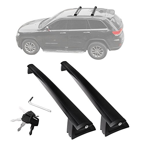 (YITAMOTOR Cross Bars Roof Racks, Luggage Racks for 2011-2019 Jeep Grand Cherokee, Crossbars with Locks Anti-theft Update Racks for Cargo Carrier Canoe Kayak Bike Rack)