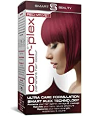 Smart Beauty   Red Velvet Permanent Hair Dye  Professional Salon Quality Hair Colour   With Smart Plex Anti-breakage Technology which protects and strengthens hair during hair colouring. PPD FREE. Vegan hair dye. Not tested on animals