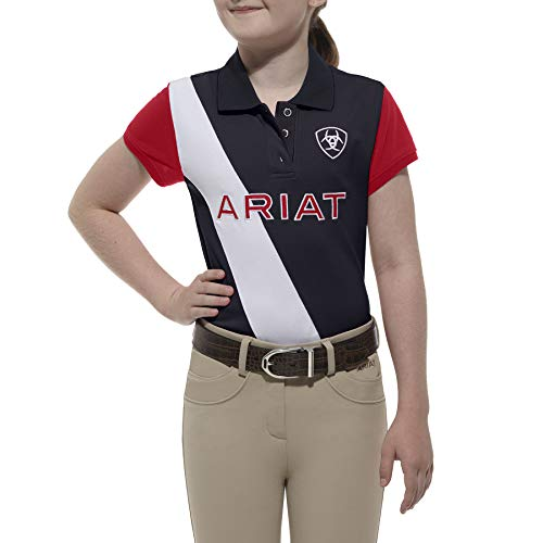 ARIAT Kid's Taryn Team Polo Navy Size X-Small ()