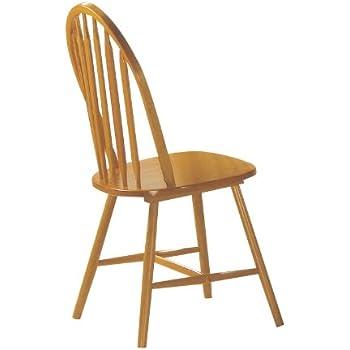 ACME 02482OAK Set Of 4 Farmhouse Arrow Back Windsor Side Chair, Oak Finish